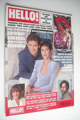 <!--1992-03-07-->Hello! magazine - Anthony Andrews cover (7 March 1992 - Is