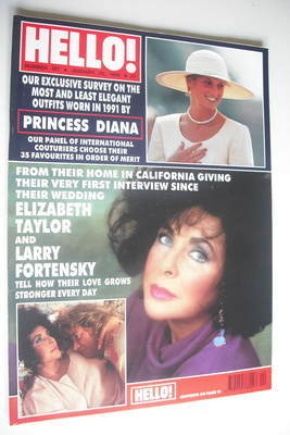 <!--1992-01-25-->Hello! magazine - Elizabeth Taylor cover (25 January 1992