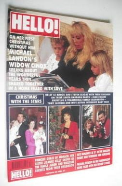 <!--1992-01-04-->Hello! magazine - Cindy Landon cover (4 January 1992 - Iss