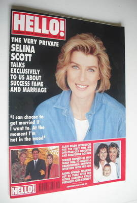 <!--1991-12-07-->Hello! magazine - Selina Scott cover (7 December 1991 - Is