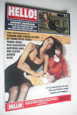 <!--1991-10-26-->Hello! magazine - Yasmin Le Bon and Amber Rose Le Bon cove