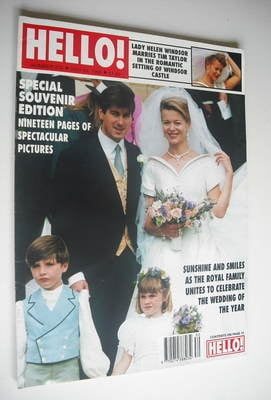 <!--1992-07-25-->Hello! magazine - Lady Helen Windsor and Tim Taylor weddin