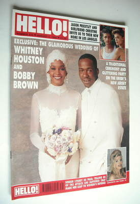 <!--1992-08-01-->Hello! magazine - Whitney Houston and Bobby Brown wedding