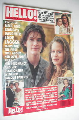 <!--1992-03-21-->Hello! magazine - Jade Jagger cover (21 March 1992 - Issue