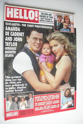 <!--1992-07-04-->Hello! magazine - Amanda de Cadenet and John Taylor cover