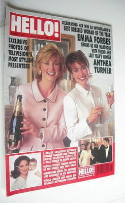 <!--1996-01-20-->Hello! magazine - Anthea Turner and Emma Forbes cover (20