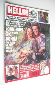 <!--1996-01-13-->Hello! magazine - John Hurt and Donna Hurt cover (13 January 1996 - Issue 389)
