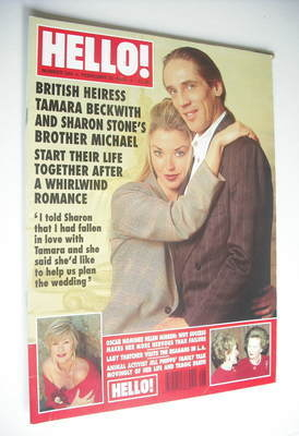 <!--1995-02-25-->Hello! magazine - Tamara Beckwith and Michael Stone cover