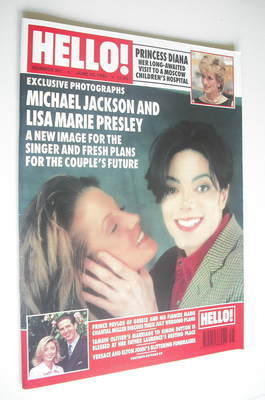 <!--1995-06-24-->Hello! magazine - Michael Jackson and Lisa Marie Presley c