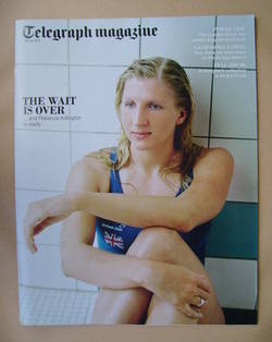 <!--2012-07-28-->Telegraph magazine - Rebecca Adlington cover (28 July 2012