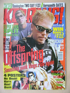 <!--1997-02-01-->Kerrang magazine - The Offspring cover (1 February 1997 -