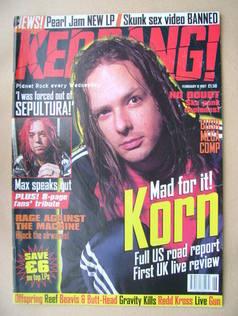 <!--1997-02-08-->Kerrang magazine - Jonathan Davis cover (8 February 1997 -