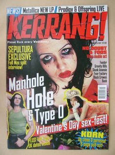 <!--1997-02-15-->Kerrang magazine - Tairrie B cover (15 February 1997 - Iss
