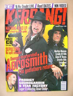 <!--1997-02-22-->Kerrang magazine - Aerosmith cover (22 February 1997 - Iss