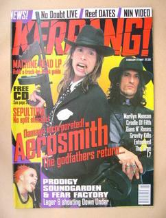 <!--1997-02-22-->Kerrang magazine - Aerosmith cover (22 February 1997 - Iss