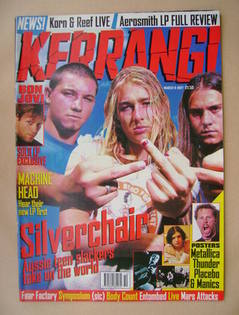 <!--1997-03-08-->Kerrang magazine - Silverchair cover (8 March 1997 - Issue