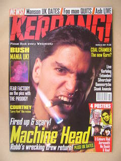 <!--1997-03-15-->Kerrang magazine - Robb Flynn cover (15 March 1997 - Issue