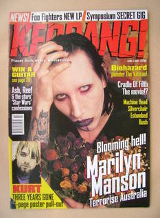 <!--1997-04-05-->Kerrang magazine - Marilyn Manson cover (5 April 1997 - Is
