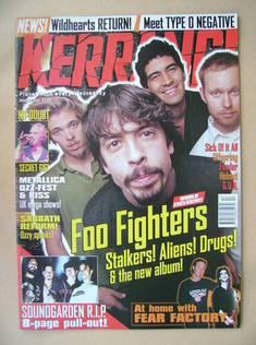 <!--1997-04-26-->Kerrang magazine - Foo Fighters cover (26 April 1997 - Iss