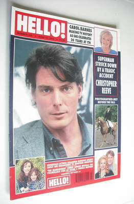 <!--1995-06-10-->Hello! magazine - Christopher Reeve cover (10 June 1995 -