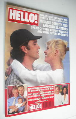 <!--1995-08-05-->Hello! magazine - Melanie Griffith and Antonio Banderas co