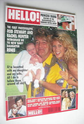 <!--1992-06-27-->Hello! magazine - Rod Stewart and Rachel Hunter cover (27