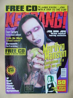 <!--1997-05-24-->Kerrang magazine - Marilyn Manson cover (24 May 1997 - Iss