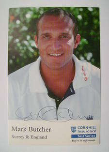 Mark Butcher autograph