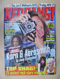 <!--1997-05-31-->Kerrang magazine - Steven Tyler cover (31 May 1997 - Issue