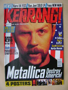 <!--1997-03-29-->Kerrang magazine - James Hetfield cover (29 March 1997 - I