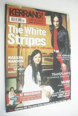 <!--2003-04-26-->Kerrang magazine - The White Stripes cover (26 April 2003