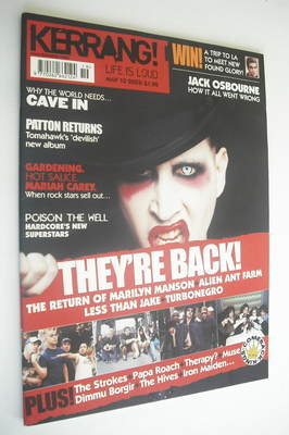 <!--2003-05-10-->Kerrang magazine - Marilyn Manson cover (10 May 2003 - Iss
