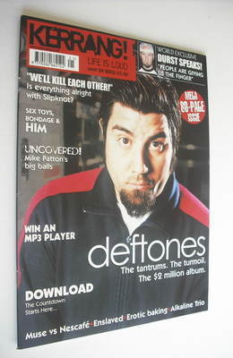 <!--2003-05-24-->Kerrang magazine - Deftones cover (24 May 2003 - Issue 956