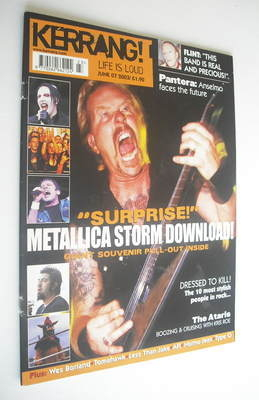 <!--2003-06-07-->Kerrang magazine - Metallica cover (7 June 2003 - Issue 95