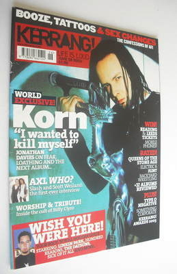 <!--2003-06-28-->Kerrang magazine - Korn cover (28 June 2003 - Issue 961)