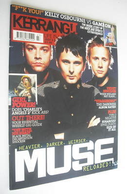<!--2003-07-05-->Kerrang magazine - Muse cover (5 July 2003 - Issue 962)