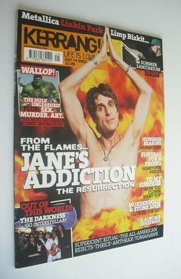 <!--2003-07-19-->Kerrang magazine - Jane's Addiction cover (19 July 2003 -