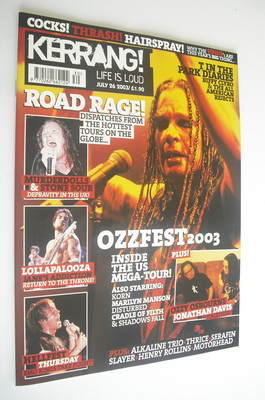 <!--2003-07-26-->Kerrang magazine - Ozzfest 2003 cover (26 July 2003 - Issu