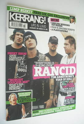 <!--2003-08-09-->Kerrang magazine - Rancid cover (9 August 2003 - Issue 967
