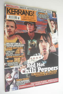 <!--2003-08-16-->Kerrang magazine - Red Hot Chili Peppers cover (16 August