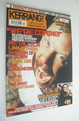 <!--2003-08-23-->Kerrang magazine - Metallica cover (23 August 2003 - Issue