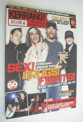 <!--2003-09-06-->Kerrang magazine - Kerrang Awards 2003 cover (6 September