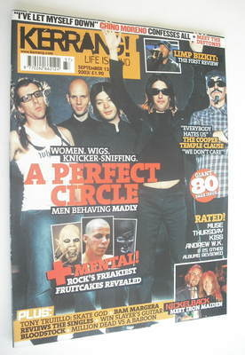 <!--2003-09-13-->Kerrang magazine - A Perfect Circle cover (13 September 20
