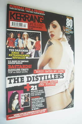 <!--2003-10-04-->Kerrang magazine - Brody Dalle cover (4 October 2003 - Iss