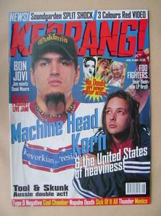 <!--1997-04-19-->Kerrang magazine - Robb Flynn and Jonathan Davis cover (19