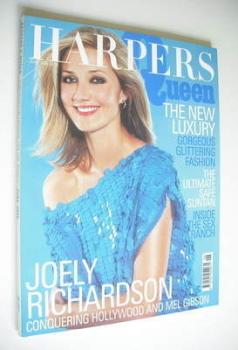 British Harpers & Queen magazine - June 2000 - Joely Richardson cover