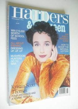 British Harpers & Queen magazine - November 1994 - Kristin Scott Thomas cover