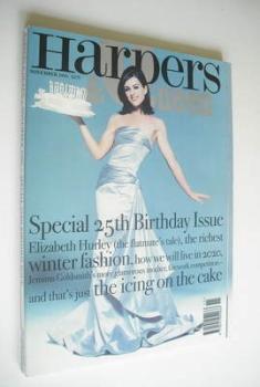 British Harpers & Queen magazine - November 1995 - Elizabeth Hurley cover