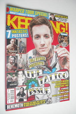 <!--2012-08-04-->Kerrang magazine - The Tattoo Issue cover (4 August 2012 -