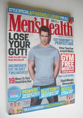<!--2012-09-->British Men's Health magazine - September 2012 - Colin Farrel